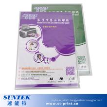 White Dark Color Inkjet Water Transfer Printing Paper (STC-T05)