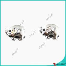 Tamanho exterior 10 milímetros elefante charme de metal para fazer pulseira (jp08)