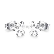 Pendientes de titanio de la flor de la joyería del diseño de la manera para las mujeres ZZE014