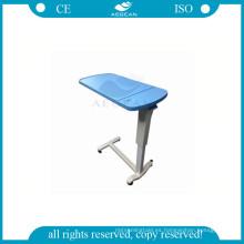 AG-OBT003B ABS médico ajustable sobre la mesa de la bandeja con frenos