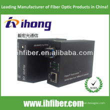 10 / 100M Fiber Optic Media Converter Single-Modus Dual-Faser-LC-Port 20km