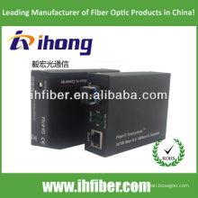 10 / 100M Fibra Óptica Media Converter único modo fibra dual LC porta 20 km
