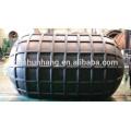 Marine Rubber Pneumatic Rib Fender For Berthing Ship Protection