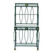 Home Glass Metal Frame Rack para colocação de mercadorias