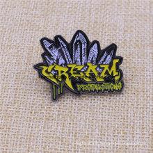 Personnalisé votre insigne mou de Pin de l'émail noir complexe de forme de nickel