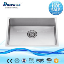 Drop in high end Foshan factory stainless steel hand washing sink