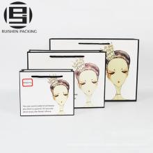 Wovem cosmetic packing kraft paper bags printed