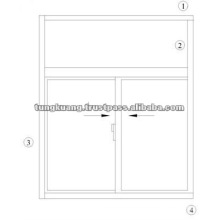ALUMINIUM SLIDING WINDOW - TK880