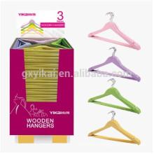 Набор 3pcs рекламные деревянные красочные вешалка