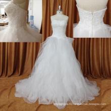 Великолепная Быстрая Доставка Романтический Органзы Рябить Свадебное Платье
