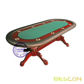 Texas Holdem 96 inch Deluxe Mahogany Oak Wood Poker Table