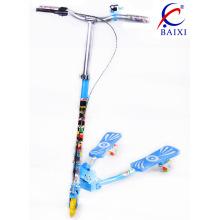 Vespa del pie de los niños con la rueda de la PU que destella (BX-WS001)
