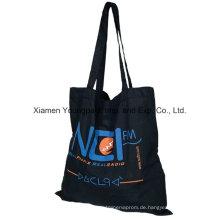 Umweltfreundliche wiederverwendbare schwarze Baumwollsegeltuch-Tuch tragen Taschentasche