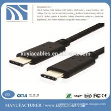 Type -C à 3.1 Type-C Câble chargeur de données Male to Male pour nouveau MacBook