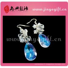 ShangDian Craft Boucles d'oreilles hypnotisant Fashion Blue Boucles d'oreilles larme