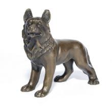 Pet Home Deco Wolf Kunst Handwerk Hund Bronze Statue Skulptur Ydw-109
