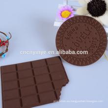 Alta calidad silicona taza mat chocolate corcho de montaña, montaña de PVC barato
