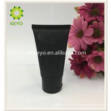 luxo escuro preto colorido vazio cosmético embalagem creme cosmético tubo