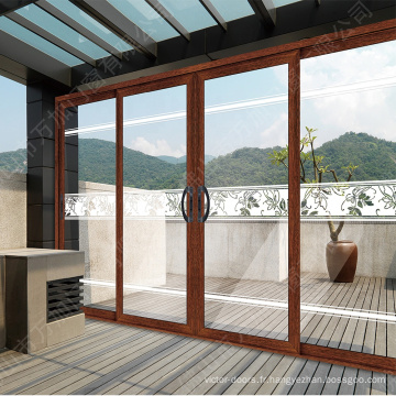 Nouveaux produits mexicain cuisine extérieure portes en verre cadres en aluminium