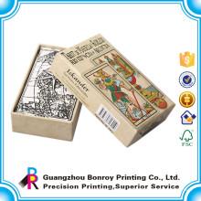 Impresión de tarjeta personalizada de alta calidad con cubierta de tarjeta de bolsillo