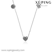 43330-calidad joyería de moda color plata plateado collar cadenas