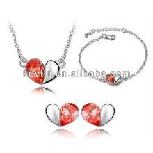 Набор ювелирных изделий способа сердца нового типа оптовой продажи bridal установленный