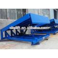 8 t Warehouse stationary hydraulic cylinder dock leveler/manual dock levelers
