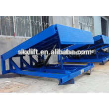 8 t Warehouse stationary hydraulic cylinder dock leveler/manual dock levelers