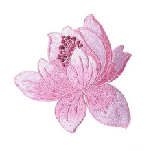 Populaire Lotus Iron On Embroidered-patches