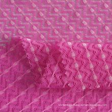 breathable elastic nylon polyester elastane blend mesh jacquard lace fabric