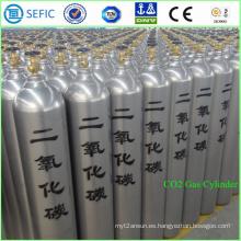 Cilindro de acero sin costura de alta presión del CO2 40L (ISO9809-3)