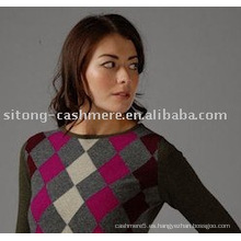 suéter de cachemira intarsia para mujer, suéter de cachemir para hombre