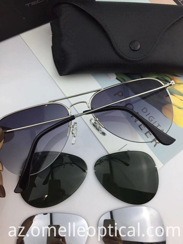 Rimless Unisex Sunglasses
