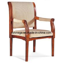 Chaise de salle d'attente en bois en tissu en tissu (FOH-F60)
