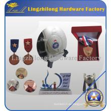 Medalla de metal deportiva personalizada con soporte de cinta
