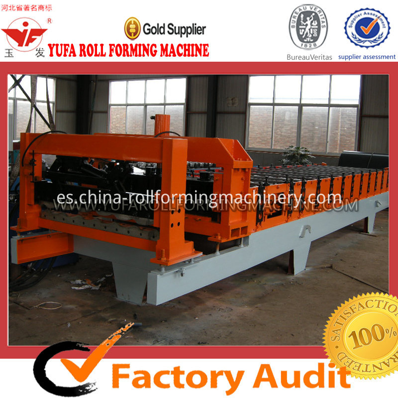 Fully automatic roof panel glazed tile 1100 making machine