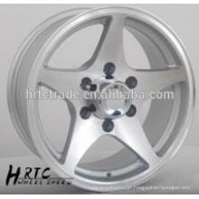 HRTC Durable replica cromo roda de carro rim14 ~ 16 polegadas 5 buraco roda jante