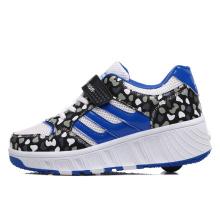 Китай Wheelys бренд роликовые коньки обувь для взрослых, детская роликовая обувь с выдвижной кнопкой для спорта