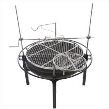 Holzkohle BBQ Grill mit Rotisserie