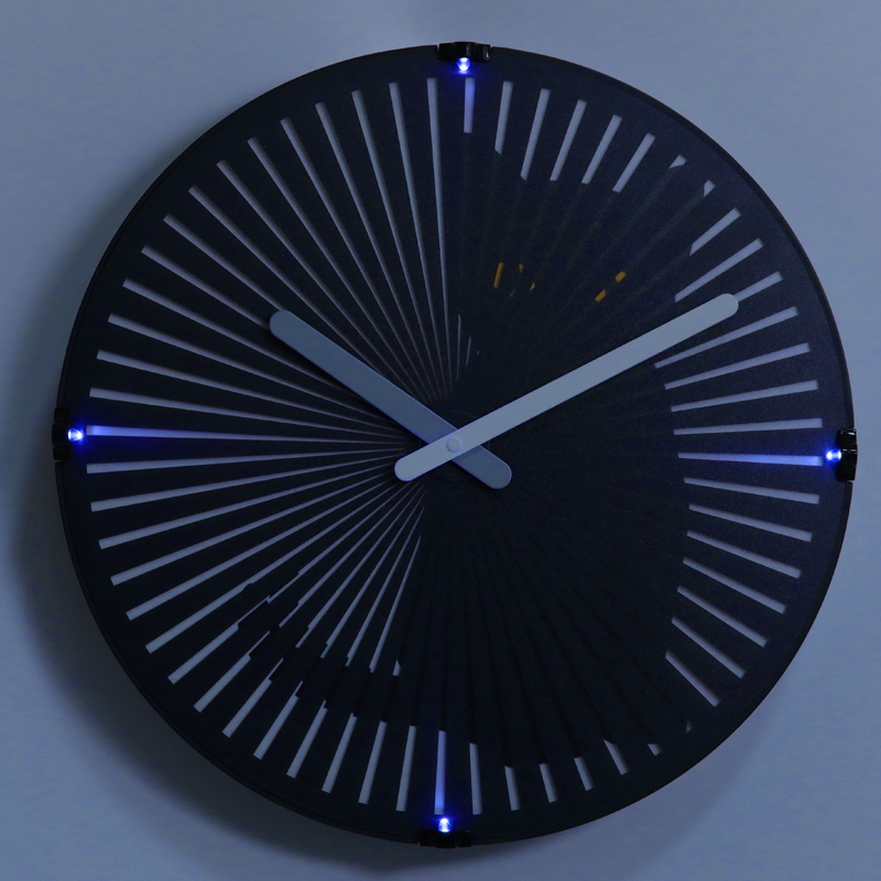 Motion Cat Clock With Light