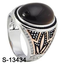 Anillo de los hombres de la plata de la ágata de la joyería de la manera de la nueva llegada (S-13434)