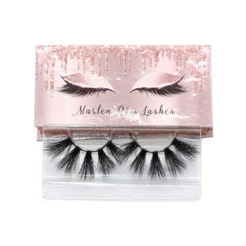 7D103 Hitomi Lashes Private Label Mink Eyelashes paper eyelash packaging 3d real mink eyelash
