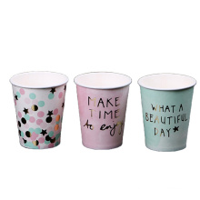 eco- friendly take-away top design quality selling single-wall Double PE mill factory pricpopular customized paper cup