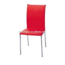 Chaise à manger rouge Métal Steel Tube for Restaurant