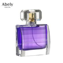 Botella de perfume de cristal de lujo superventas 50ml con fragancia original