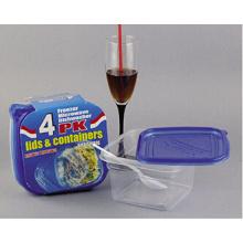 Sqaure Plastic Take Away Container de alimentos microondas 34oz