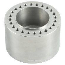 custom high quality Natural color anodization 24holes CNC Drilling Machining part service  Aluminum Wheel