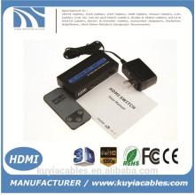 Connecteur en métal de haute qualité Connecteur HDMI 3x1 adaptateur convertisseur de commutation Support audio HDMI 1.3 Vidéo 3D 720p 1080i 1080p
