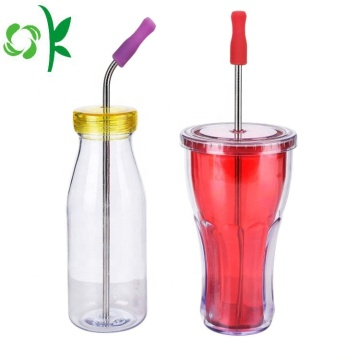 Silicone Tip Straw Soft Food Grade