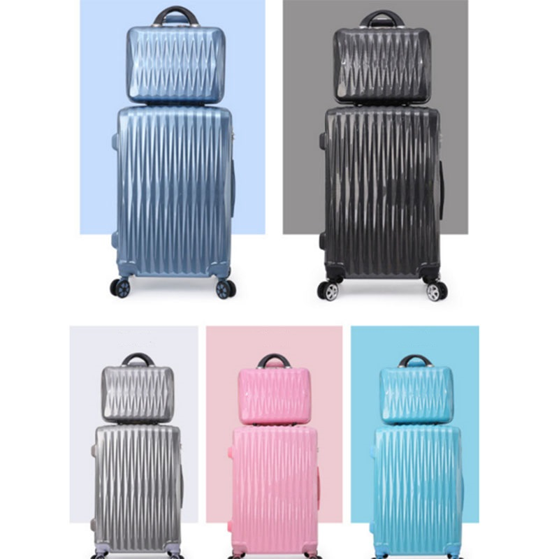 Colorful luggage sets